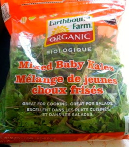 I just discovered this amazing 1lb. bag of baby kale at Costco for under $5! Score!