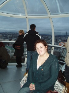 Riding the London Eye at my heaviest in 2007