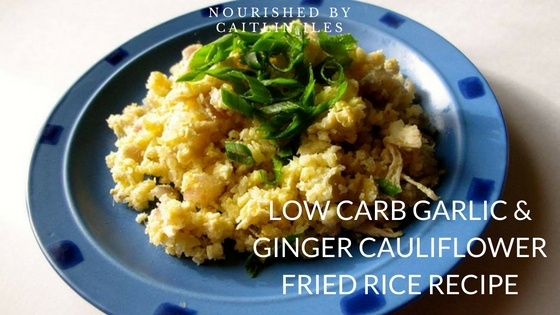Low Carb Garlic & Ginger Cauliflower Fried Rice Recipe
