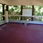 The treetop room where we held our Make Yourself a Priority & Release Yourself workshops