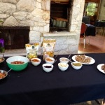 Build Your Own Trail Mix Bar with walnuts, almonds, pecans, cashews, sunflower seeds, pumpkin seeds, toasted coconut, currants, and golden berries. They were the perfect snack to pack up for our guests who were traveling home!