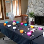 Setting up for our beautiful body care workshop