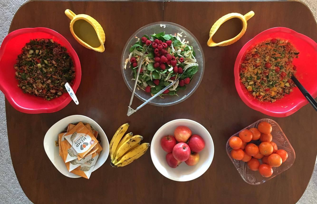 Healthy Food Prepared at Wellness Retreat Saskatchewan