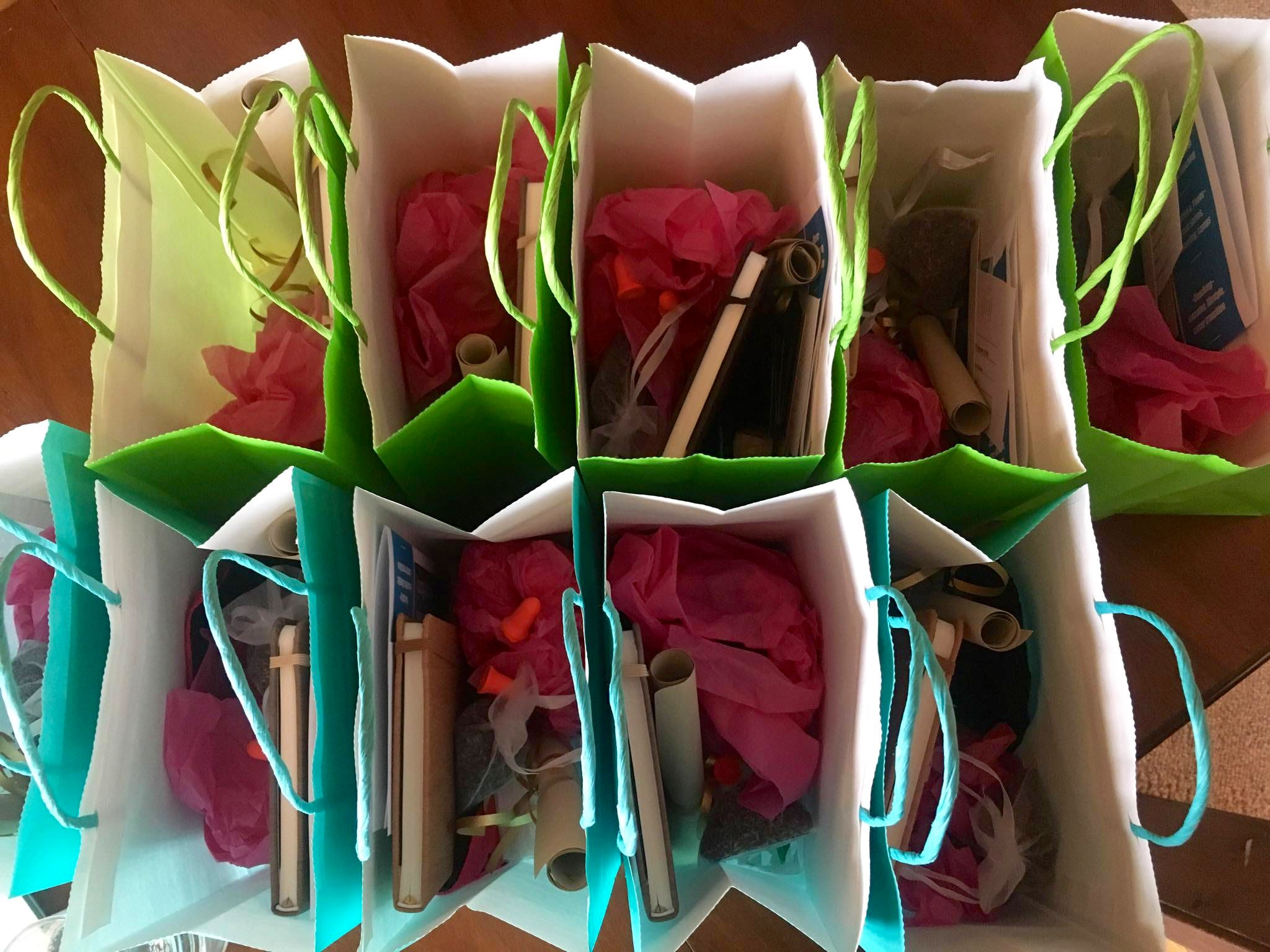 Gift Bags Healthy Yoga Retreat Saskatchewan