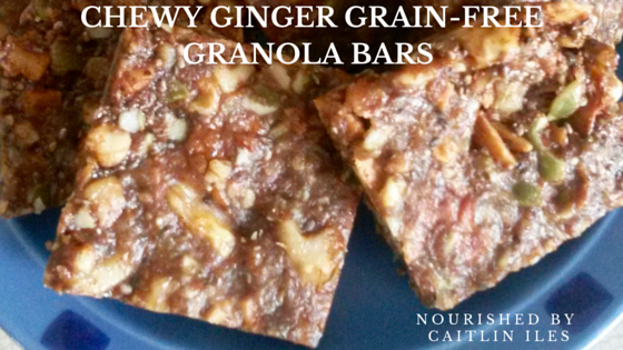 Grain-Free Chewy Ginger Granola Bar Recipe