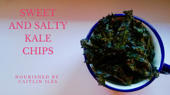 sweet and salty kale chips recipe
