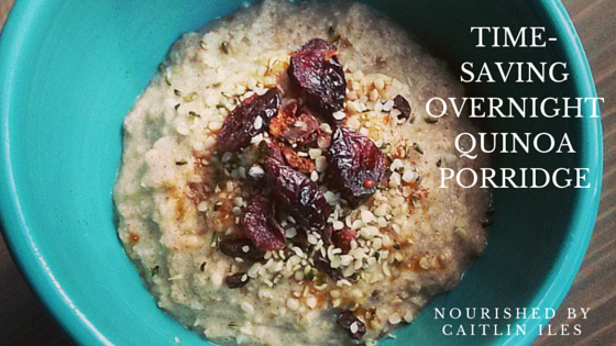 over night quinoa porridge recipe