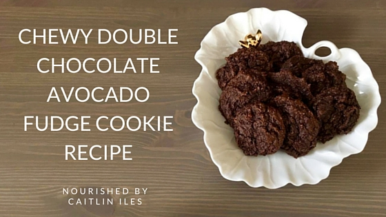 Chewy Double Chocolate Avocado Fudge Cookie Recipe