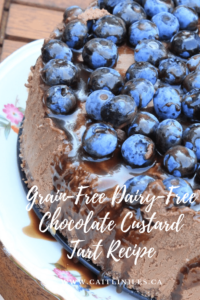 Grain-Free Dairy-Free Chocolate Custard Tart Recipe