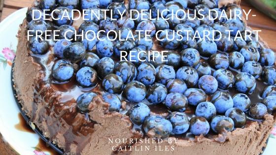 Decadently Delicious Dairy-Free Chocolate Custard Tart Recipe