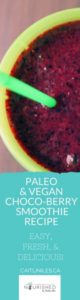 Easy Paleo Vegan Chocolate Blueberry Smoothie Recipe (1)