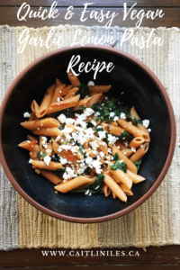 Quick & Easy Vegan Garlic Tomato Pasta Recipe