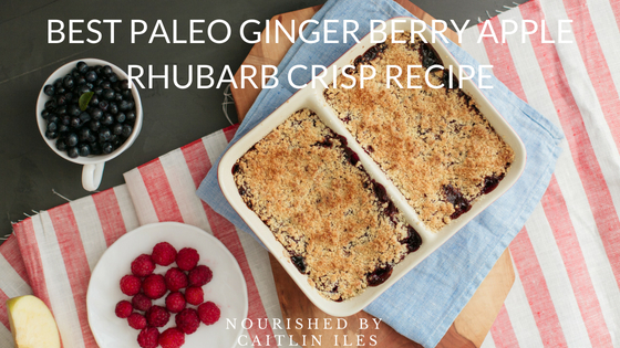 Ginger Berry Apple Rhubarb Crisp Recipe