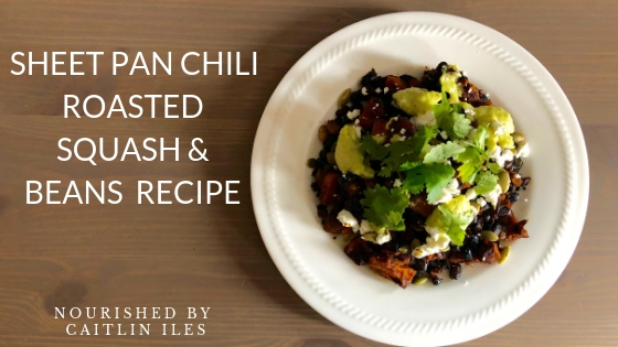 Sheet Pan Chili Roasted Butternut Squash & Beans Recipe