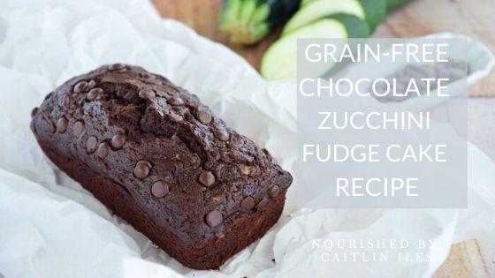 Grain-Free Chocolate Zucchini Fudge Cake Recipe