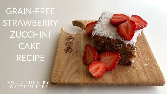 Grain-Free Strawberry Zucchini Cake Recipe