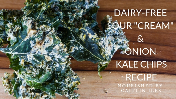 "Dairy-Free Sour ""Cream"" and Onion Kale Chips Recipe"