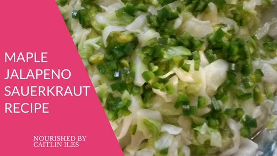 Maple Jalapeño Sauerkraut Recipe