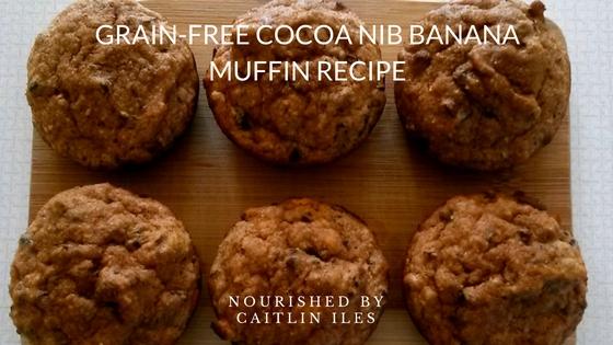 Grain-Free Cocoa Nib Banana Muffin Recipe