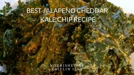 Vegan Jalapeño Cheddar Kale Chips Recipe