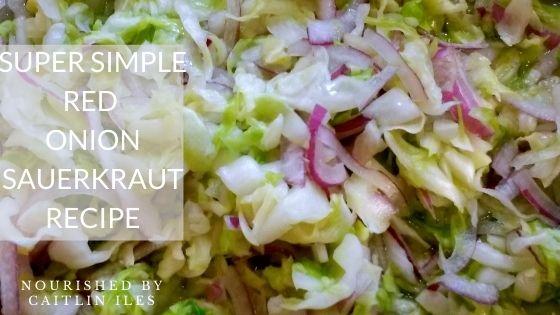 Red Onion Sauerkraut Recipe