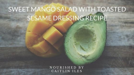 Mango Salad with Toasted Sesame Dressing Recipe