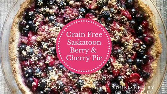 Gluten-Free Saskatoon Berry & Cherry Pie Recipe