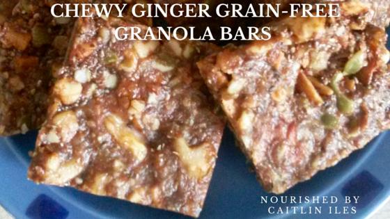 Grain-Free Chewy Ginger Granola Bar Recipe