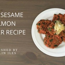 spicy sesame salmon burger recipe