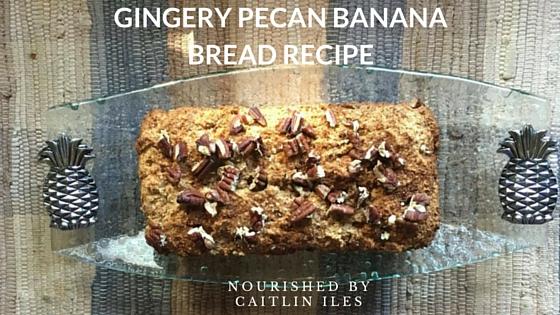 Gingery Pecan Banana Bread Recipe