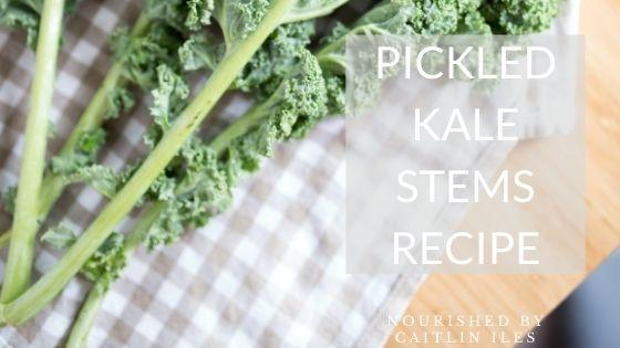 Pickled Kale Stems Recipe