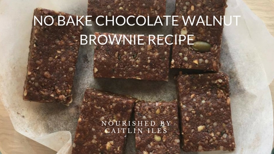 No-Bake Chocolate Walnut Brownie Recipe