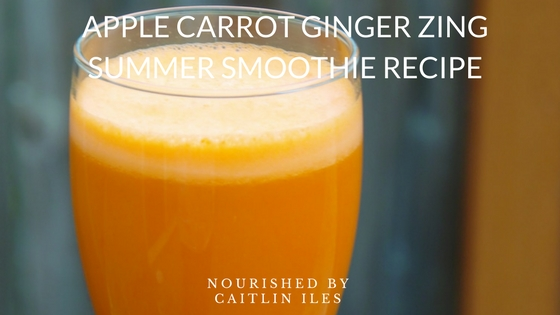 Apple Carrot Ginger Zing Smoothie Recipe