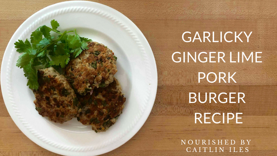 Garlicky Ginger Lime Pork Burger Recipe