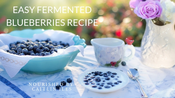 Super Easy Fermented Blueberries Recipe