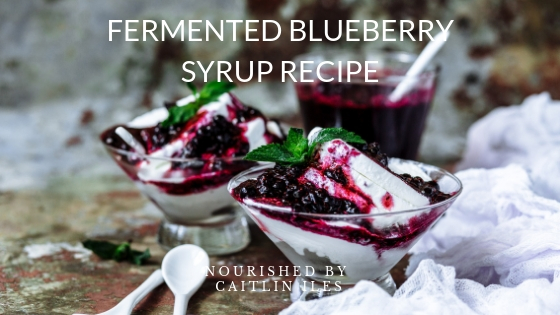 Fermented Blueberry Syrup Recipe