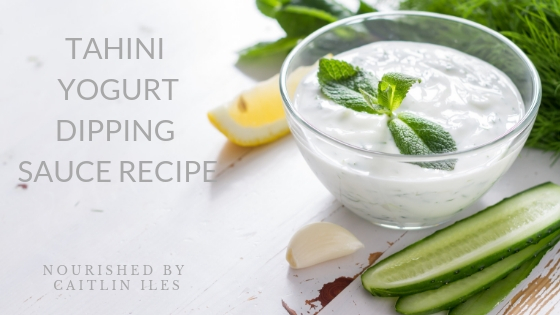 Tahini Yogurt Dipping Sauce Recipe