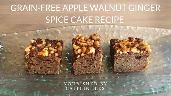 Grain-Free Apple Walnut Ginger Spice Cake Recipe