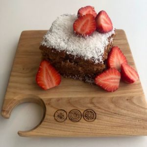 Paleo Strawberry Zucchini Cake Recipe