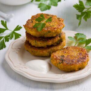 Crispy Quinoa Split Pea Cakes Recipe