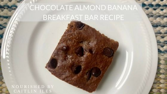 Grain-Free Chocolate Almond Banana Breakfast Bars Recipe